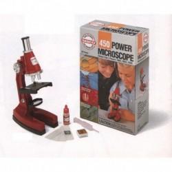Microscopio Tasco Bresser 450 Ingrandimenti alto 23 cm. scientifico per ragazzi a luce riflessa con vetrini preparati
