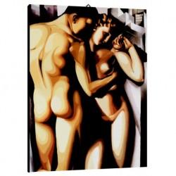 Quadro Lempicka Art. 01 cm 50x70 Trasporto Gratis intelaiato pronto da appendere Stampa su tela Canvas
