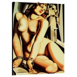 Quadro Lempicka Art. 02 cm 50x70 Trasporto Gratis intelaiato pronto da appendere Stampa su tela Canvas