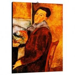 Quadro Modigliani Art. 04 cm 70x100 Trasporto Gratis intelaiato pronto da appendere Stampa su tela Canvas