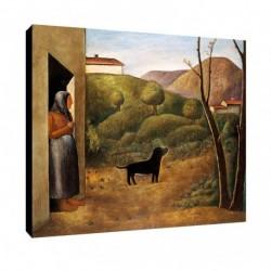 Quadro Carlo Carra Art. 03 cm 35x35 Trasporto Gratis intelaiato pronto da appendere Stampa su tela Canvas