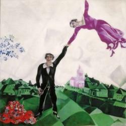 Poster Chagall Art 01 cm 70x70 Stampa Falsi d'Autore Affiche Plakat Fine Art