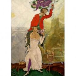 Poster Chagall Art 03 cm 50x70 Stampa Falsi d'Autore Affiche Plakat Fine Art