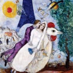 Poster Chagall Art 04 cm 70x70 Stampa Falsi d'Autore Affiche Plakat Fine Art