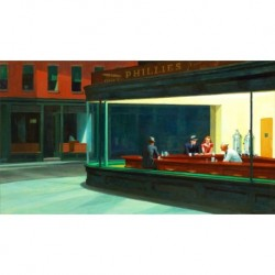 Poster Hopper Art. 01 cm 50x70 Stampa Falsi d'Autore Affiche Plakat Fine Art