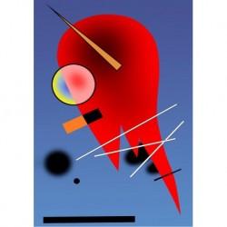 Poster Kandinsky Art. 01 cm 35x50 Stampa Falsi d'Autore Affiche Plakat Fine Art