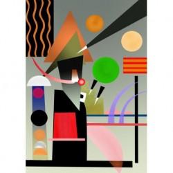 Poster Kandinsky Art. 02 cm 35x50 Stampa Falsi d'Autore Affiche Plakat Fine Art
