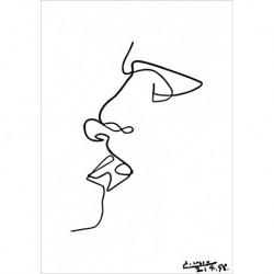 Poster Picasso Art. 21 cm 70x100 semplici linee Stampa Falsi d'Autore Affiche Plakat