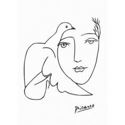 Poster Picasso Art. 24 cm 35x50 semplici linee Stampa Falsi d'Autore Affiche Plakat