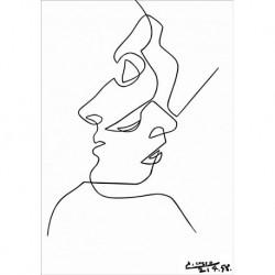 Poster Picasso Art. 18 cm 50x50 Stampa Falsi d'Autore Affiche Plakat Fine Art