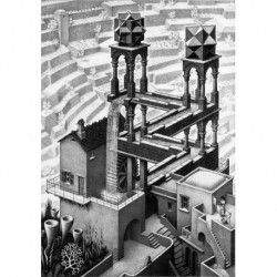 Poster Escher Art. 01 cm 50x70 Stampa Falsi d'Autore Affiche Plakat Fine Art