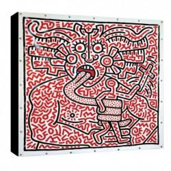 Bild Keith Haring Art. 02 cm 50x50 Kostenloser Transport Druck auf Leinwand das gemalde ist fertig zum aufhangen