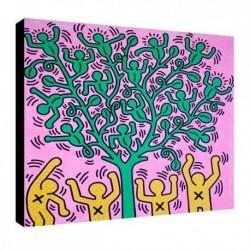 Bild Keith Haring Art. 04 cm 70x70 Kostenloser Transport Druck auf Leinwand das gemalde ist fertig zum aufhangen