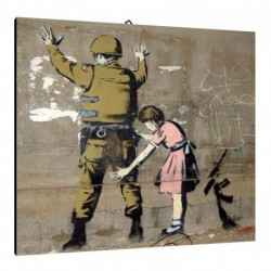 Quadro Banksy Art. 03 cm 70x70 Trasporto Gratis intelaiato pronto da appendere Stampa su tela Canvas