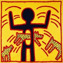 Poster Haring Art. 01 cm 70x70 Stampa Falsi d'Autore Affiche Plakat Fine Art
