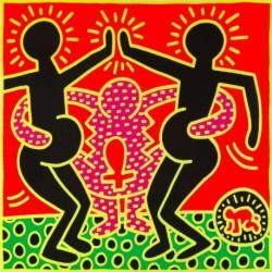 Poster Haring Art. 03 cm 70x70 Stampa Falsi d'Autore Affiche Plakat Fine Art