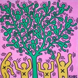 Poster Haring Art. 04 cm 50x50 Stampa Falsi d'Autore Affiche Plakat Fine Art