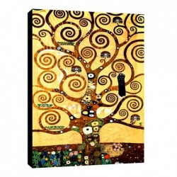 Quadro Klimt Art. 14 cm 50x70 Trasporto Gratis intelaiato pronto da appendere Stampa su tela Canvas