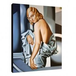 Quadro Lempicka Art. 05 cm 50x70 Trasporto Gratis intelaiato pronto da appendere Stampa su tela Canvas