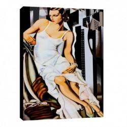 Quadro Lempicka Art. 10 cm 70x100 Trasporto Gratis intelaiato pronto da appendere Stampa su tela Canvas
