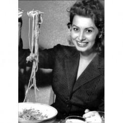 Poster  Mangiaspaghetti Art. 10 Sofia Loren cm 35x50 Stampe Falsi d'Autore Affiche Plakat Fine Art