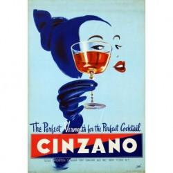 Poster Manifesto  Cinzano Art. 45 cm 35x50 Stampe Falsi d'Autore Affiche Plakat Fine Art