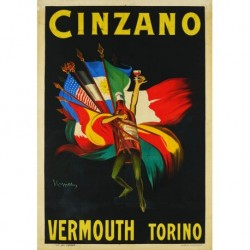 Poster Manifesto  Cinzano Art. 48 cm 35x50 Stampe Falsi d'Autore Affiche Plakat Fine Art