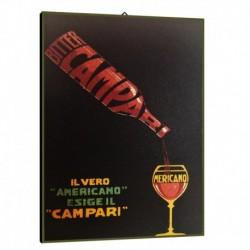 Quadro Manifesto Campari Americano Art. 01 cm 35x50 Stampe Falsi d'Autore Bild Fine Art
