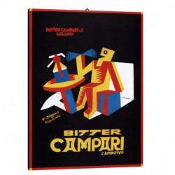Quadro Manifesto Campari Art. 04 cm 35x50 Stampe Falsi d'Autore Bild Fine Art