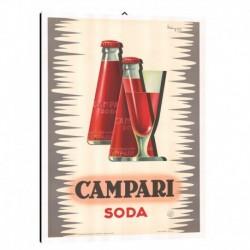 Quadro Manifesto Campari  Art. 17 cm 35x50 Stampe Falsi d'Autore Bild Fine Art