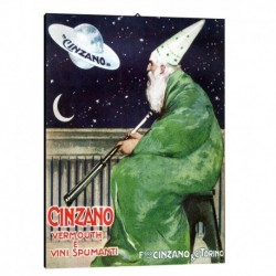 Quadro Manifesto  Cinzano Art. 46 cm 35x50 Stampe Falsi d'Autore Bild Fine Art