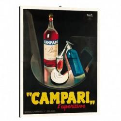 Quadro Manifesto Campari Art. 03 cm 50x70 Stampe Falsi d'Autore Bild Fine Art