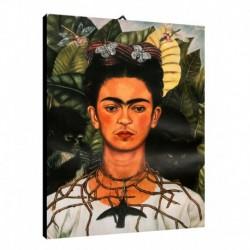 Quadro Frida Kalo Art. 01 cm 35x50 Trasporto Gratis intelaiato pronto da appendere Stampa su tela Canvas