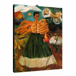Quadro Frida Kalo Art. 04 cm 50x70 Trasporto Gratis intelaiato pronto da appendere Stampa su tela Canvas