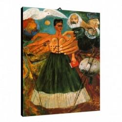Quadro Frida Kalo Art. 04 cm 70x100 Trasporto Gratis intelaiato pronto da appendere Stampa su tela Canvas