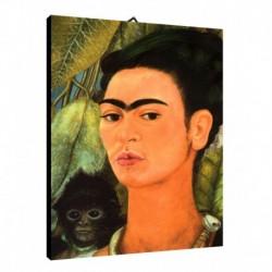 Quadro Frida Kalo Art. 05 cm 50x70 Trasporto Gratis intelaiato pronto da appendere Stampa su tela Canvas