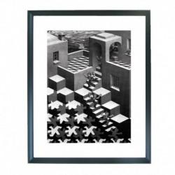 Quadro Escher cod. 02  cm. 40x50 pronto da appendere con passepartout  comprensivo di cornice, gancio e plexiglass