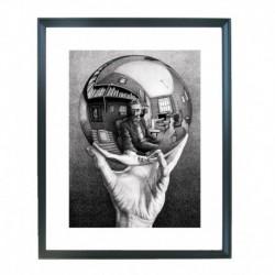 Quadro Escher cod. 06  cm. 40x50 pronto da appendere con passepartout  comprensivo di cornice, gancio e plexiglass