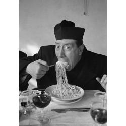 Poster  Mangiaspaghetti Art. 06 Don Camillo cm 35x50 Stampe Falsi d'Autore Affiche Plakat Fine Art