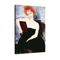 Quadro Modigliani Art. 01 cm 35x50 Trasporto Gratis intelaiato pronto da appendere Stampa su tela Canvas