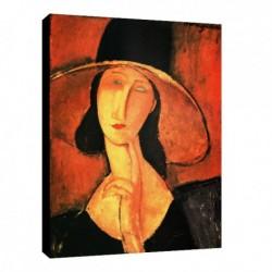 Quadro Modigliani Art. 07 cm 50x70 Trasporto Gratis intelaiato pronto da appendere Stampa su tela Canvas
