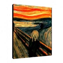 Quadro Munch Art. 01 cm 35x50 Trasporto Gratis intelaiato pronto da appendere Stampa su tela Canvas