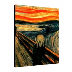 Quadro Munch Art. 01 cm 50x70 Trasporto Gratis intelaiato pronto da appendere  tela Canvas