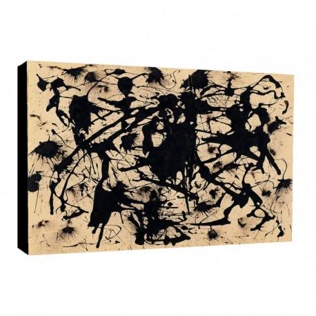 Bild Pollok Art. 01 cm 50x70 Kostenloser Transport Druck auf Leinwand das gemalde ist fertig zum aufhangen