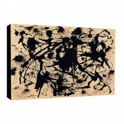 Quadro Pollok Art. 01 cm 70x100 Trasporto Gratis intelaiato pronto da appendere Stampa su tela Canvas