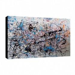 Quadro Pollok Art. 02 cm 70x100 Trasporto Gratis intelaiato pronto da appendere Stampa su tela Canvas