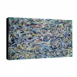 Quadro Pollok Art. 03 cm 50x70 Trasporto Gratis intelaiato pronto da appendere Stampa su tela Canvas