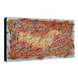 Bild Pollok Art. 04 cm 35x50 Kostenloser Transport Druck auf Leinwand das gemalde ist fertig zum aufhangen