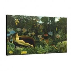 Quadro Rousseau Art. 01 cm 50x70 Trasporto Gratis intelaiato pronto da appendere  tela Canvas